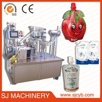 Factory price automatic stand up pouch with spout form fill seal and capping machine