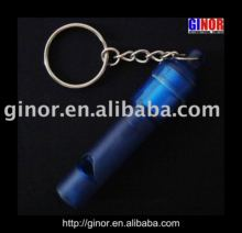 Flashing whistle keychain/whistle key chain/whistle key ring