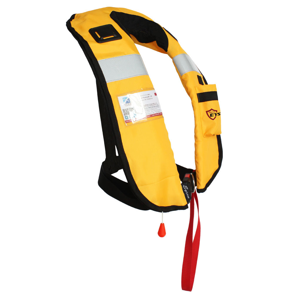2015 new design nylon+TPU inflatable personalized life jacket for sea fishing
