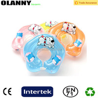 customized baby swim collar colorful inflatable donut swim ring