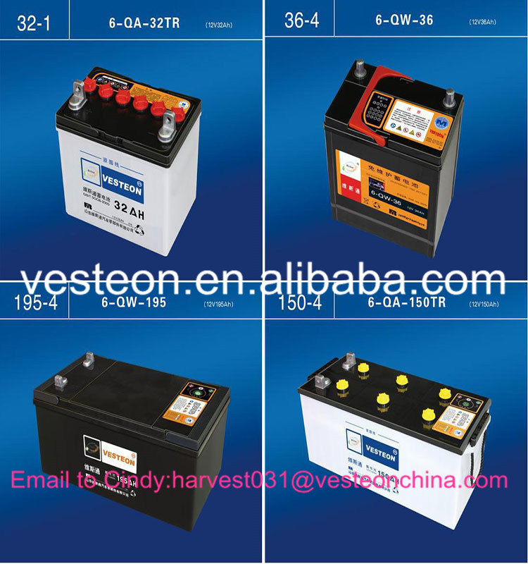 JIS standard car&bus&truck battery