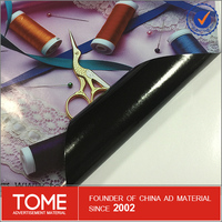 Removable solvent vinyl with black adhesive glue