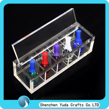 Free shipping perspex dirp tips box 5 compartments clear acrylic box