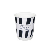 Disposable Paper Cups Single Double Ripple Wall for Coffee Ice cream Food Cola with logo printed