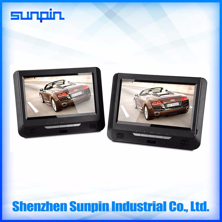 wholesaler best quality portable car dvd player for kids with 9 inch double screen