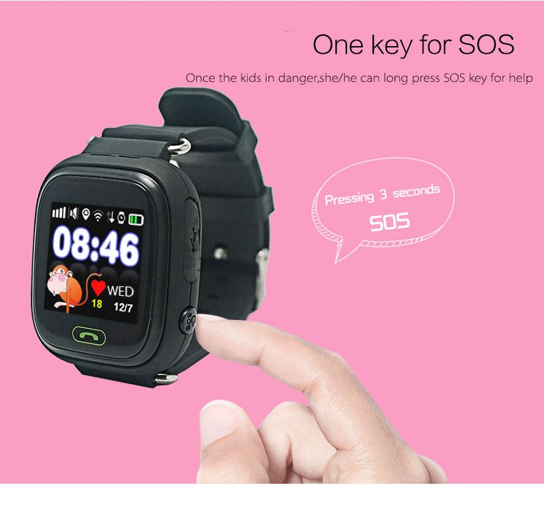 support SIM card smart baby watch with SOS for iOS Android watch mobile sim card gps