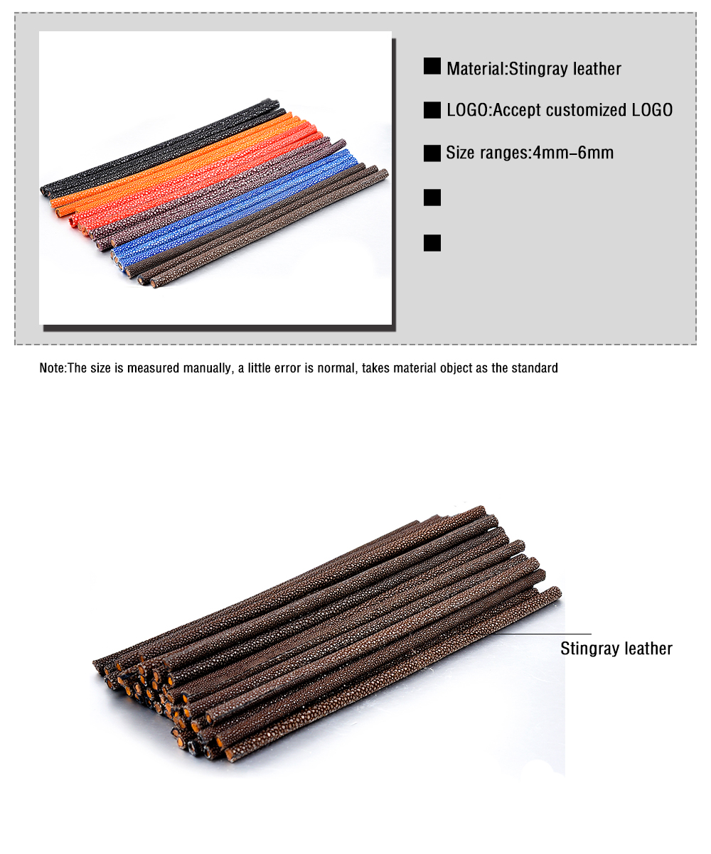 Factory Supply Promotional 5mm Round Genuine Stingray Leather Cord Wholesale