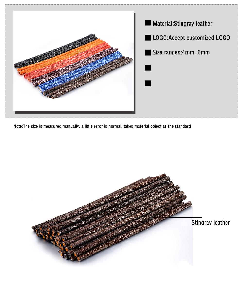 Wholesale Vintage 4mm 5mm 6mm Genuine Purple Stingray Skin Leather Cord For Bracelet