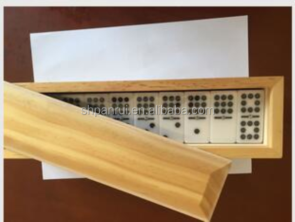 High Quality domino game wooden acrylic domino