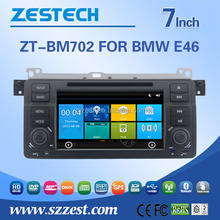 Zestech factory wholesale car dvd gps for BMW E46 touch screen 1 din car dvd gps media player DVB-T ATSC RDS Video BT am/fm USB