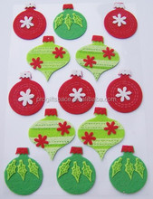 2017 hot new products alibaba website wholesale free sample felt christmas decorations sticker window decal made in china