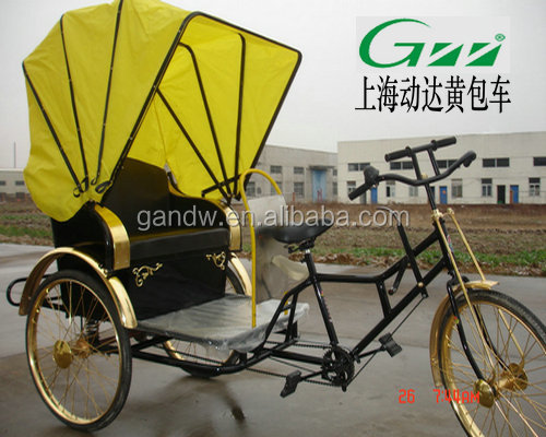 Deluxe Human- power rickshaw passenger tricycle