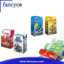 Custom aseptic liquid gable top carton packaging juice boxes milk carton