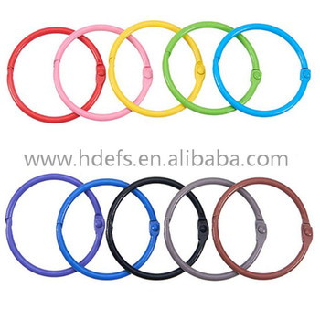 Colorful School Book Binder Ring/Leaflet Ring/Opening Ring