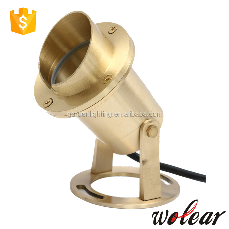 B721 flat cover brass underwater garden light pool lights