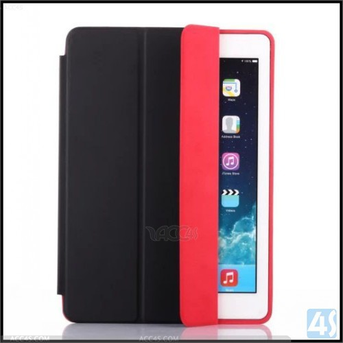 2015 contrast color folio leather case for ipad air 2
