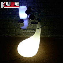 Special office decoration led coffee table glass top outdoor table