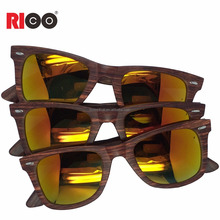 2018 wholesale Wooden grain polarized sunglasses custom