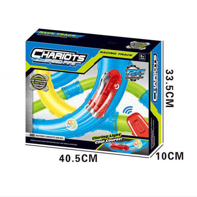 New arrival pipes car racer game high speed tube RC track