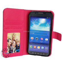 cute belt dirt proof flip leather case for galaxy s5 sport