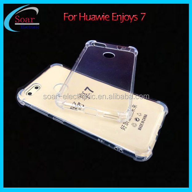 Anti shock cover case for Huawei enjoys 7 Shockproof TPU case