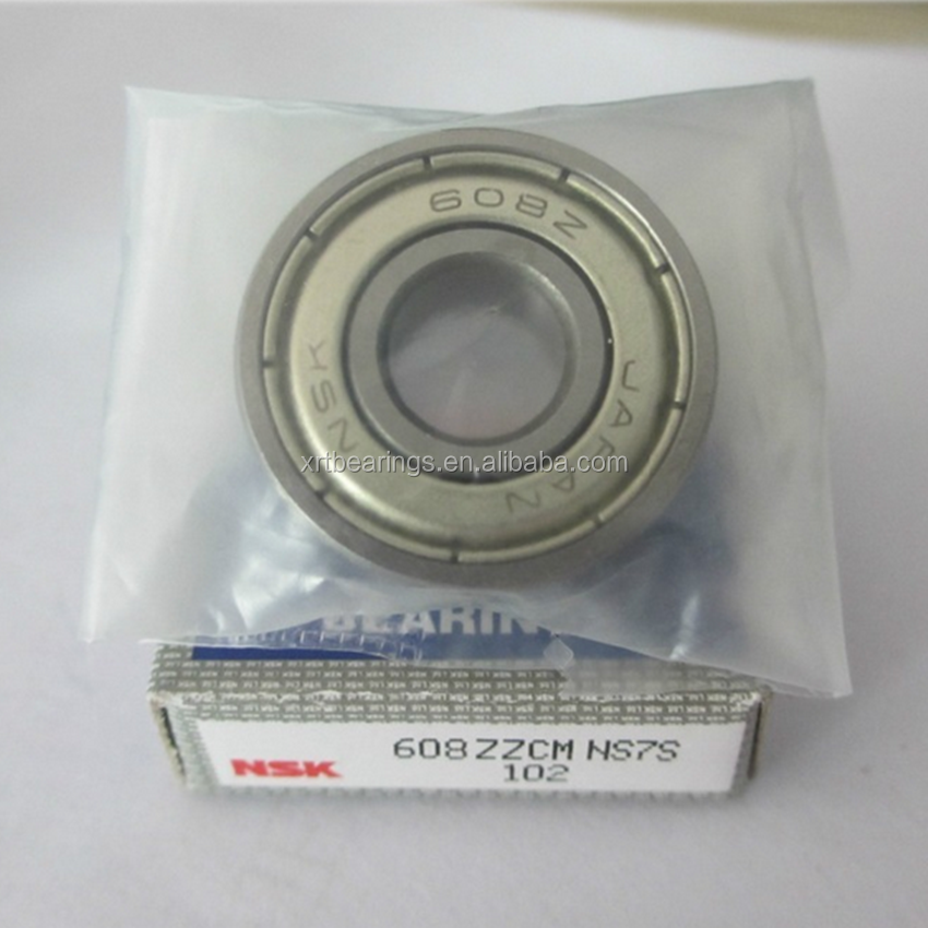 Original high speed NSK 608 608z bearing 608zz 608ZZCM NS7S ball bearing for skateboard
