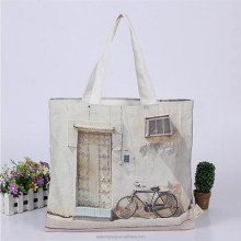 Good Quality Wholesale Hot Sell Full Sublimation Shopping Canvas Tote Bag