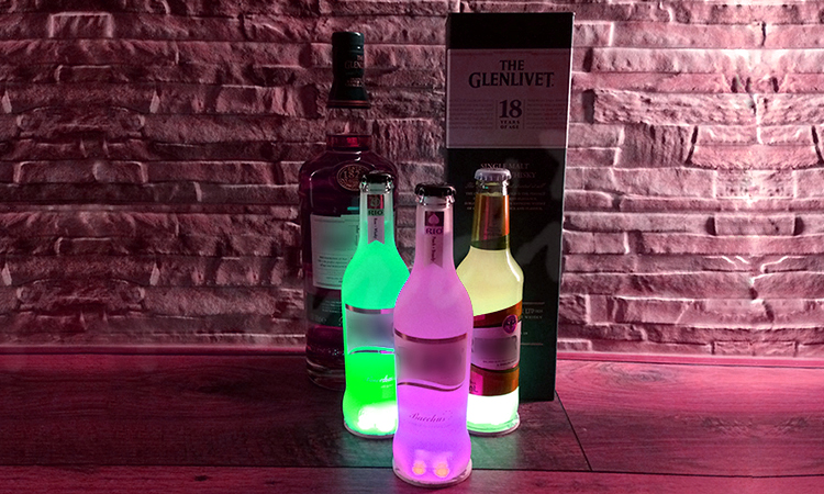 GFLAI Patent Flashing Led Glass Or Plastic Bottle Stickers Party Supplies Party Decoration/Party Favor