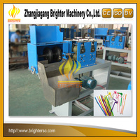 New Design Brighter High Output 1/2/3 Color Drink Straw Cutting Machine Line