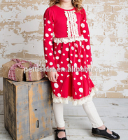 Newest Kids Ruffle Spring Outfit Children New Years Boutique Clothing