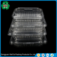 custom design clam shell plastic snack box