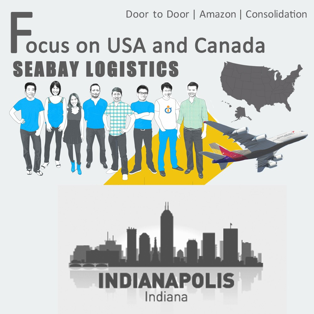 Brilliant air freight cargo shipping to indianapolis