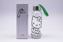 300 ML protective sleeves for glass bottle, customized lodo glass bottle with metal cover