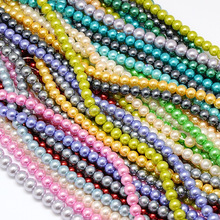 6mm Mixed Color Decoration Faux Glass Pearl Beads Jewelry Making Kits Wholesale