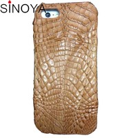 For iphone 6 plus case 1 piece custom Crocodile Skin Leather Case Protect Back Hard Cover For iPhone 6S Plus +