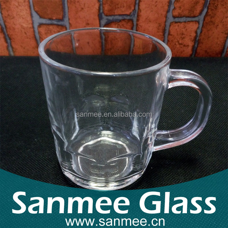 230ml Low Price Wholesale Tooth Glass,Clear Cheap Glass Mug