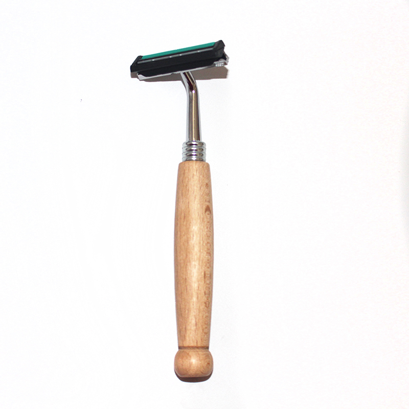 hot sale wooden razor with two blade shave for men