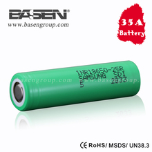 Authentic 25r samsung 18650 lithium ion battery cells 3.7v 2500mah 20A li-ion battery inr18650 battery 3.7v 18650 samsung 25r