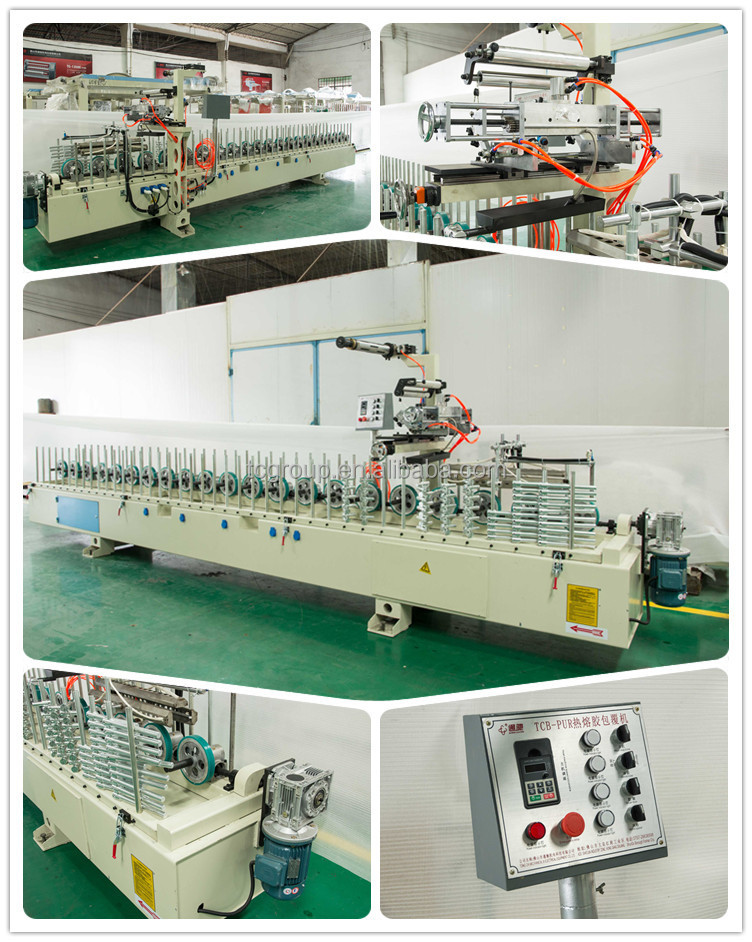 TC supply High Frequency Automatic mdf profile wrapping machine