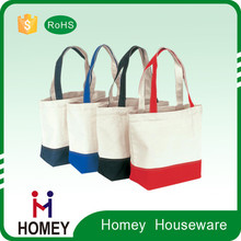 oem production plain white cotton canvas tote bag for printing