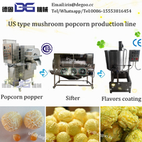 Commercial continuous caramel popcorn making equipment