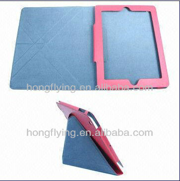 fashionable genuie leather case ,case for ipad 3,genuine leather cover for ipad 5
