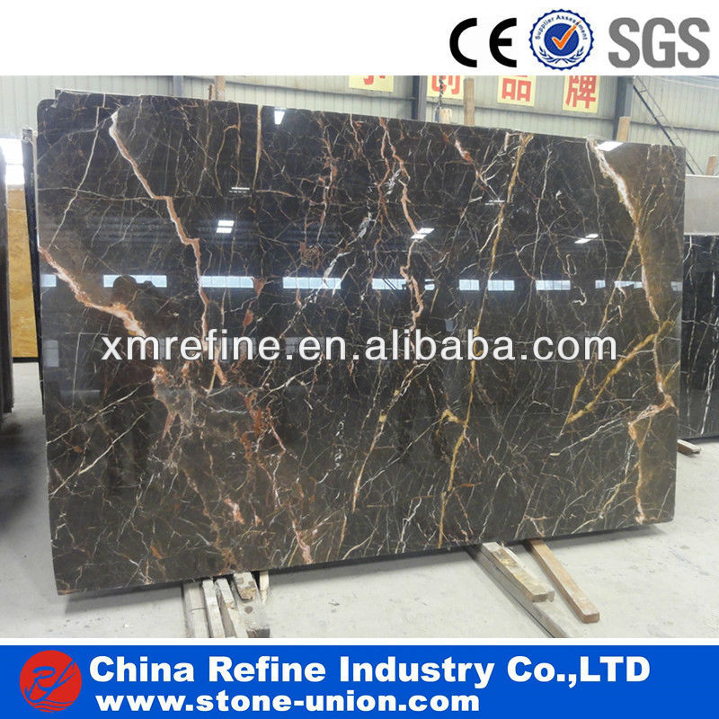 Golden line coffee marble