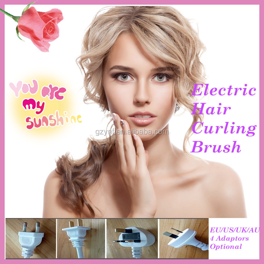 Factory Wholesell Excellent Quality Curling Brushes Ceramic Irons Electric Rolling Hair Curlers Spiral Curl Human Hair Weaving