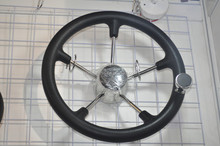 Newly5 Spoke Stainless Steel Boat Marine Steering Wheel With Black PU Foam