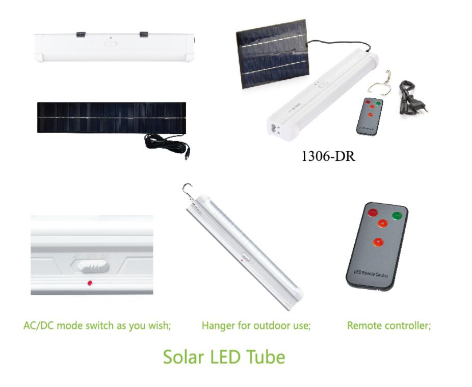 AC DC Rechargeable Solar Led Emergency Tube Lights