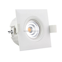 Square led cob downlight 9w dim2warm dimmable 83mm cutout