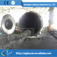 Pollution Free JINPENG Brand Classical Full Open Door Waste Tyre to Fuel Oil Plant