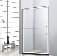 3 sides glass bathroom alluminum sliding shower box