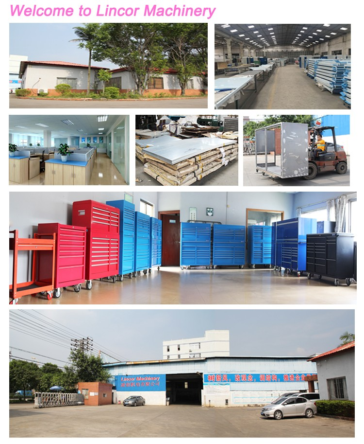Workshop car repairing service centre Commercial Garage metal steel frame workbench worktable with drawers and wheels